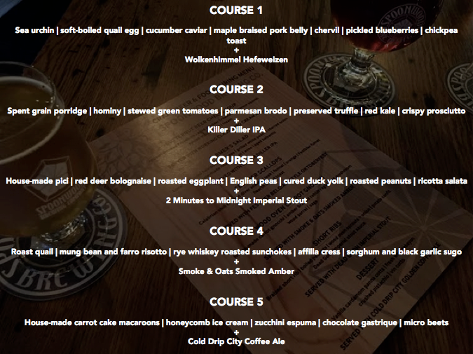 Food & Beer Pairing Menu